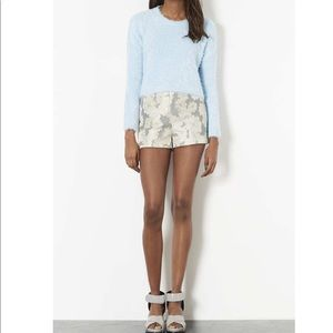 TopShop Gold Roses High Waist Shorts